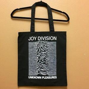 "Black Joy Division ""Unknown Pleasures"" Tote Bag"